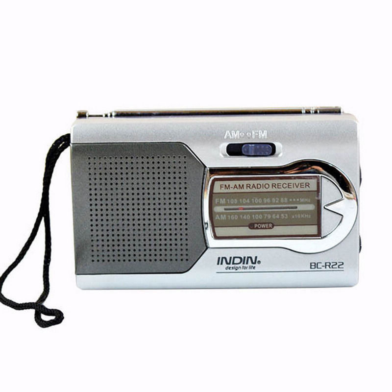 Morning Walkman Speaker Player BC-R22 Portable AM / FM Radio Receiver Built-in Speaker Mini Radio New Year's Gift
