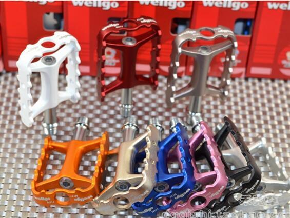 Wellgo m111 ultraleggeri bicicletta pedali mtb pedali di una bicicletta cuscinetto pedale wellgo pedale