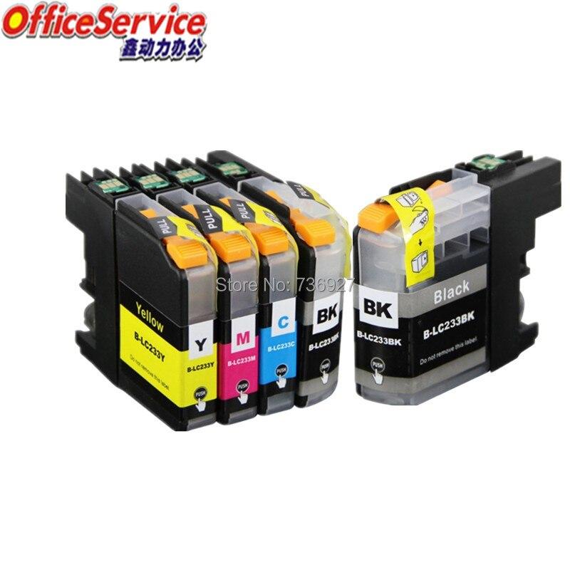 LC233 LC231 LC237 LC235 cartucho de tinta Compatible para Brother MFC-J5720/J4120/J4620/J5320/J480DW/J680DW /J880DW impresora