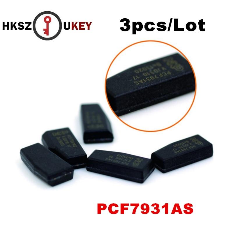HKSZUKEY 3 teil/los Auto Autoschlüssel Chip PCF7931AS Transponder Chip PCF7931 Hohe Qualität ID33