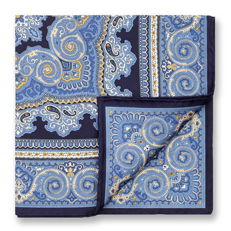 Luxury Fashion Paisley Print Hankies Mens Pocket Towel Men's Business Suits Pocket Square Handkerchiefs for Wedding 100% Silk