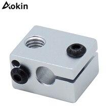 1pc Aluminium V6 Heat Block For V5 J-head Extruder HotEnd 3D Printers Parts Hot End Heating Accessories 20*16*12 mm Part