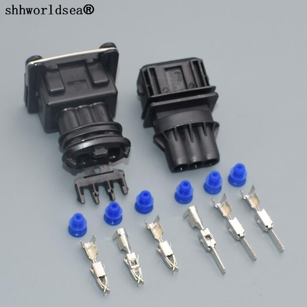 Shhworldsea 1 conjunto 3 Pino 3.5 milímetros feminino spray de combustível plugue/plugue bocal de óleo/Regulador de Pressão para Bosch plug