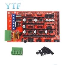 1pcs RAMPS 1.4 Panel Part Motherboard 3D Printers Parts Shield Red Black Controls