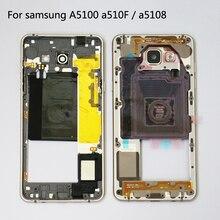 Оригинальный средний ободок, рамка для Samsung GALAXY A510 a5100 A5 2016 A510F A510V a5108, корпус средней пластины + мелкие детали