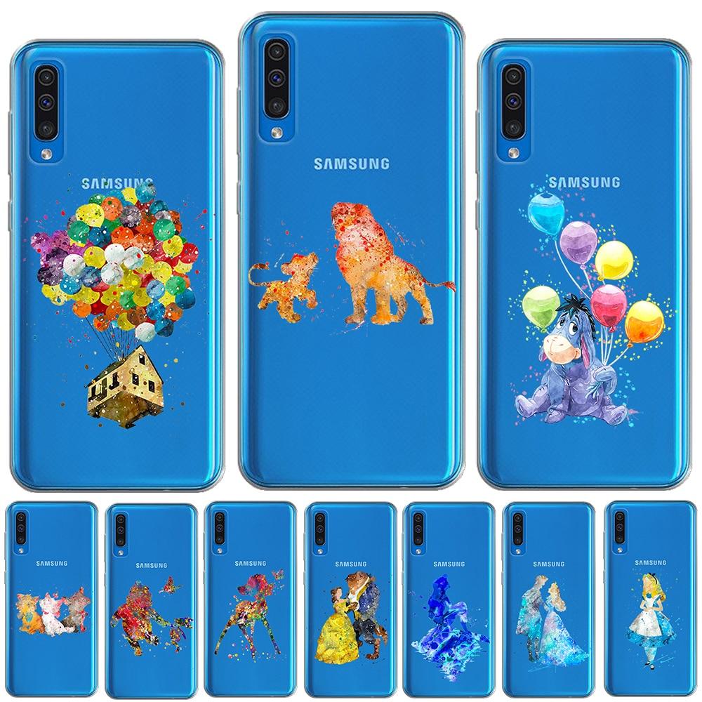 Acuarela Tinkerbell de ciervo funda de silicona para Samsung Galaxy A10 A20 A30 A40 A50 A60 A70 A80 A9 2018 M10 M20 M30 TPU caso