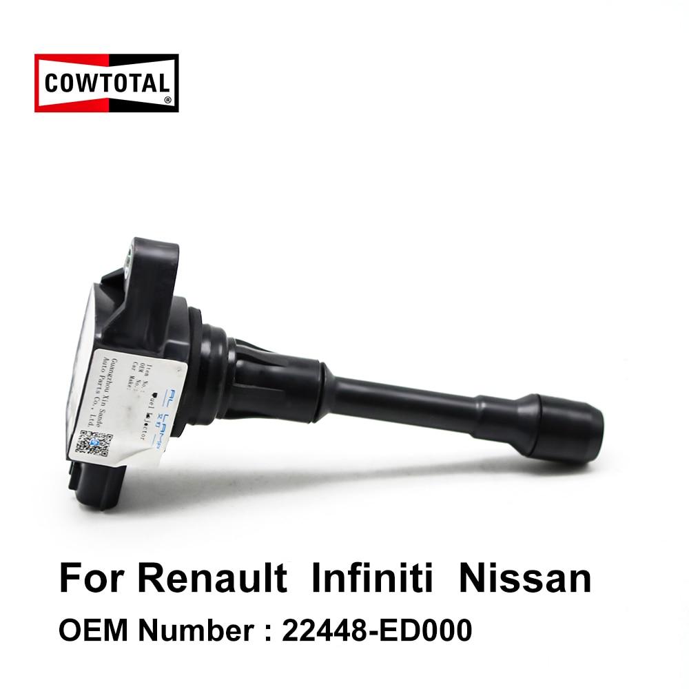 COWTOTAL bobina de encendido 22448-ED000 para Renault Koleos talismán Nissan Pathfinder Altima Morano Infiniti EX25 EX35 G37 M25 M37