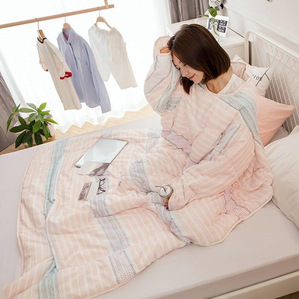 الشتاء كسول لحاف مع الأكمام سميكة غسلها دفئا وسادة بطانية مريحة ل أريكة تتحول لسرير 8 أنواع لحاف جودة عالية S007