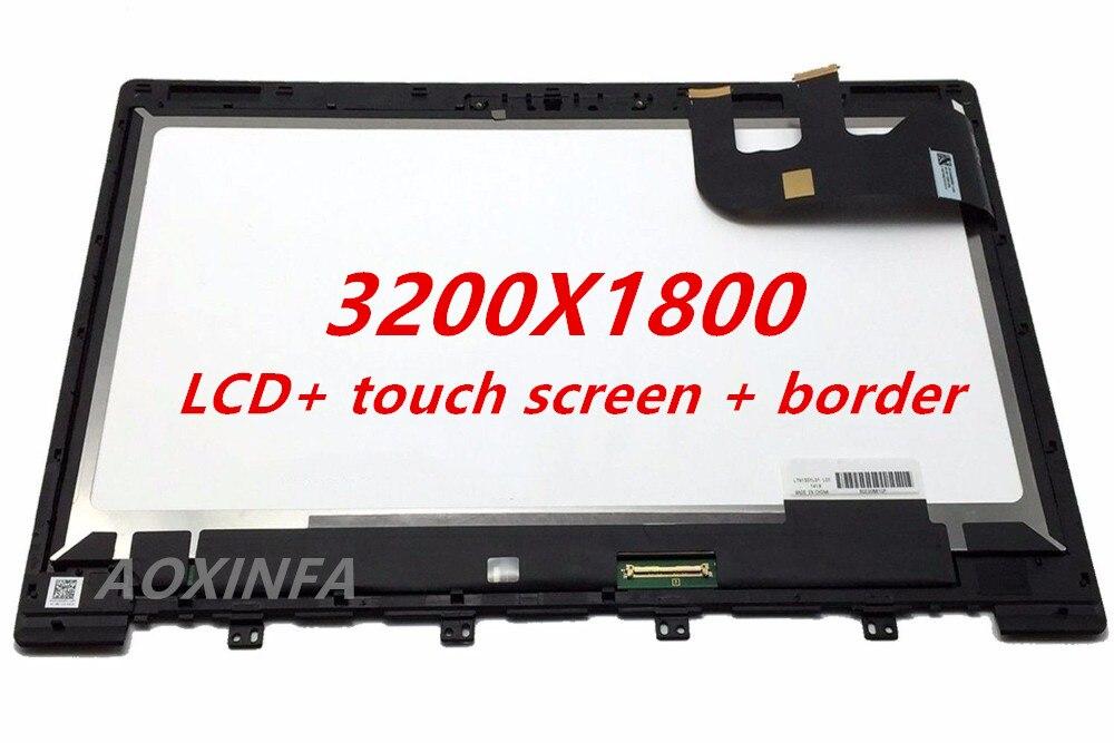 Montaje de pantalla táctil Panel de pantalla LCD de 13,3 pulgadas con...