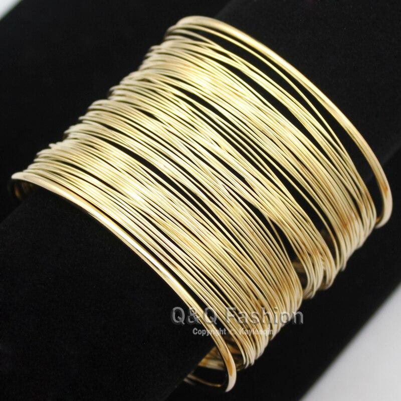 Urbano de capa delgada de amplia banda Mod, brazalete de la pulsera de lujo vestido regalo de la joyería