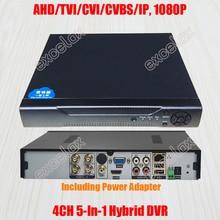 4CH 5-en-1 IP AHD TVI CVI XVI CVBS caméra analogique HVR 5MP 4MP 3MP 2MP 1080 hybride DVR P2P Audio ONVIF HDMI-compatible 1x disque dur