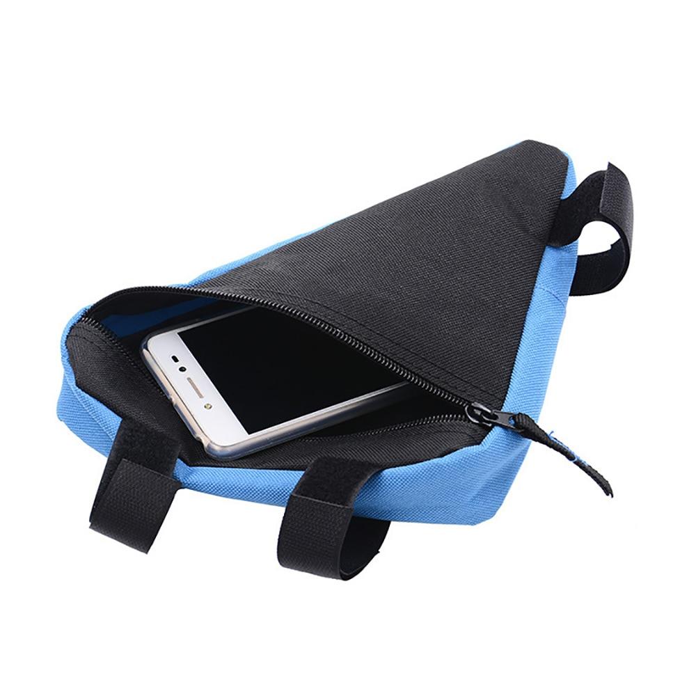 Maletero de coche, caja organizadora de almacenamiento bolsa impermeable triángulo bicicleta bolsa de ciclismo bolsa para marco de tubo frontal silla titular