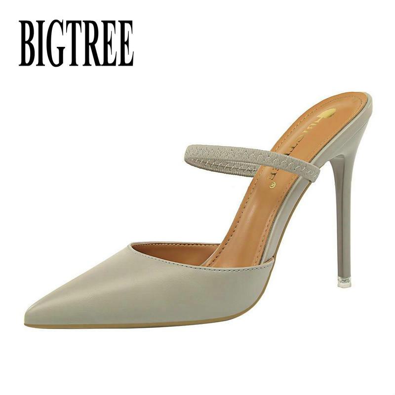 BIGTREE Shoes Women Pumps New Women Shoes Stiletto Fashion High Heels Women's Ssandals Kitten Heels Sexy Party Shoes Women Heels