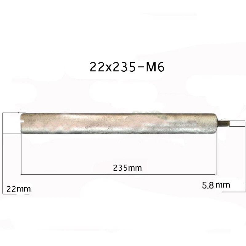 22*235mm-M6 المغنيسيوم قضيب الأنود ل سخان بالطاقة الشمسية أنظمة مع 1