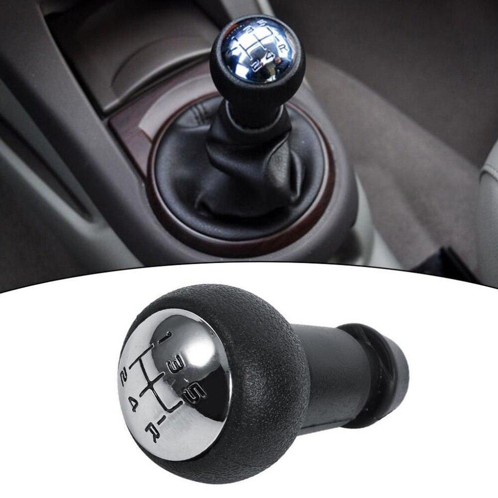 Palanca de cambios de engranaje de cuero palanca de cambio 5 velocidades coche Manual para Peugeot 106 206 306 406 107 207 307