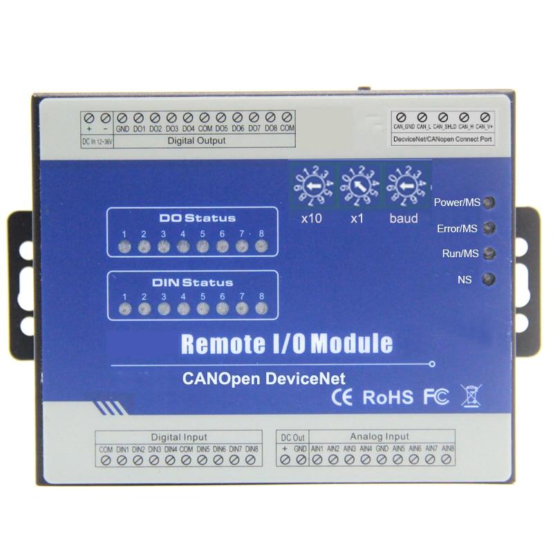 Devicenet Módulo De Entrada Salida Remota Dispositivo Para Plc Hmi Con Interfaz Canbus 8 Entradas Salidas Digitales Compatible Con Salida Pwm M160d Aliexpress