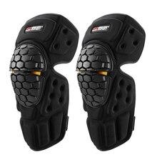 Rodilleras de motocicleta ajustables cómodas, protectores de rodilla de alta intensidad para motocicleta, rodilleras para Motocross