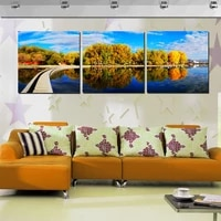 modern paintings landscape painting beautiful autumn natural scenery contemporary art wall picture home decor 3 pieces no frame
