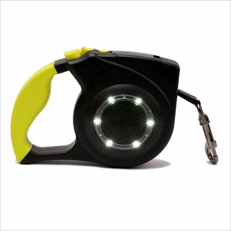 Correa de perro retráctil mascota cuerda de tracción telescópica automática perro gato lámpara LED Reflector expansión automática Tractor productos para mascotas