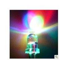 3mm RGB 7 cores full color rápido e lento flash LED Contas de Luz perna longa