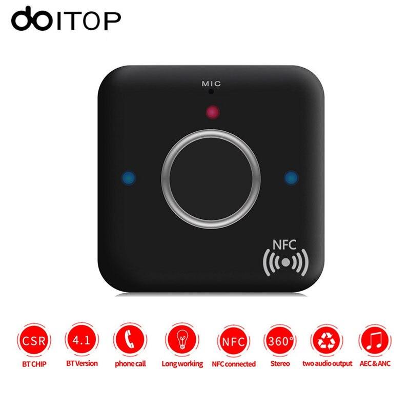 DOITOP-receptor de Audio B7 portátil, inalámbrico por Bluetooth 4,1, con puerto AUX de 3,5mm para altavoz, auriculares, manos libres para el hogar y el coche