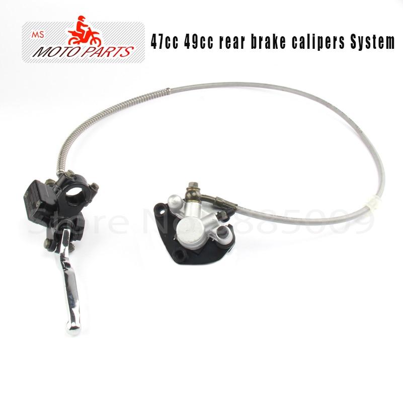 47cc 49cc rear brake caliper system Mini accessories motorcycle water cooled sports car hydraulic pump