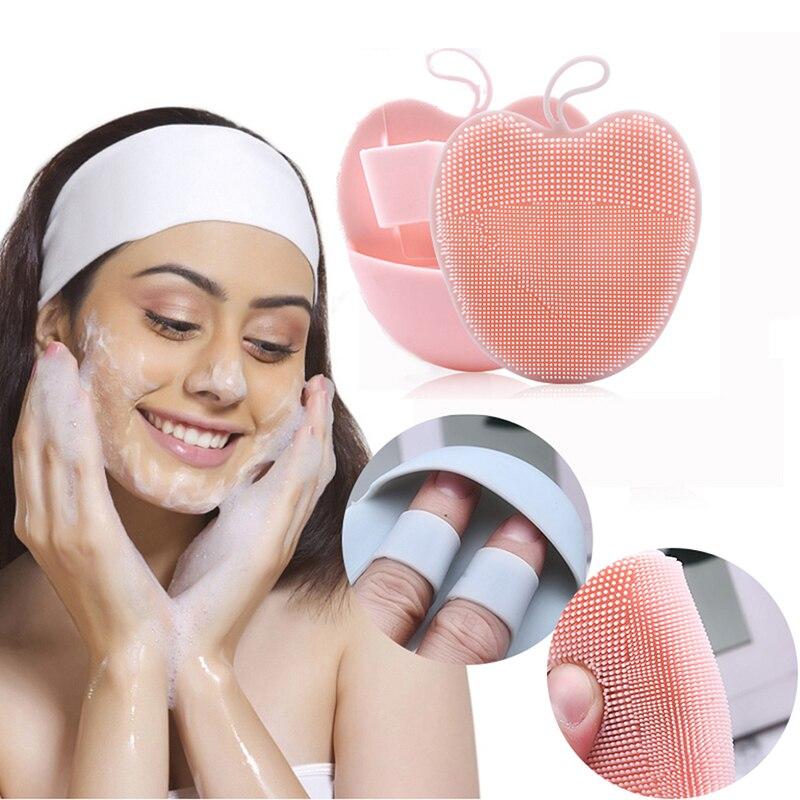 Nuevo cepillo de limpieza facial Sonic Vibration limpiador facial de silicona limpieza profunda de poros cepillo eléctrico de masaje impermeable