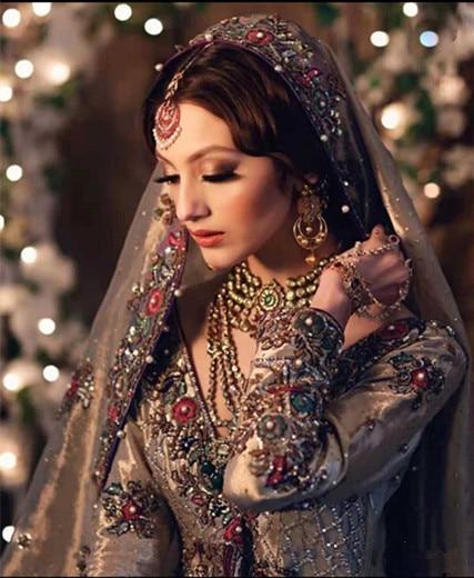 شال نسائي مطرز ، شال على الطراز الهندي ، غطاء رأس ، صناعة يدوية