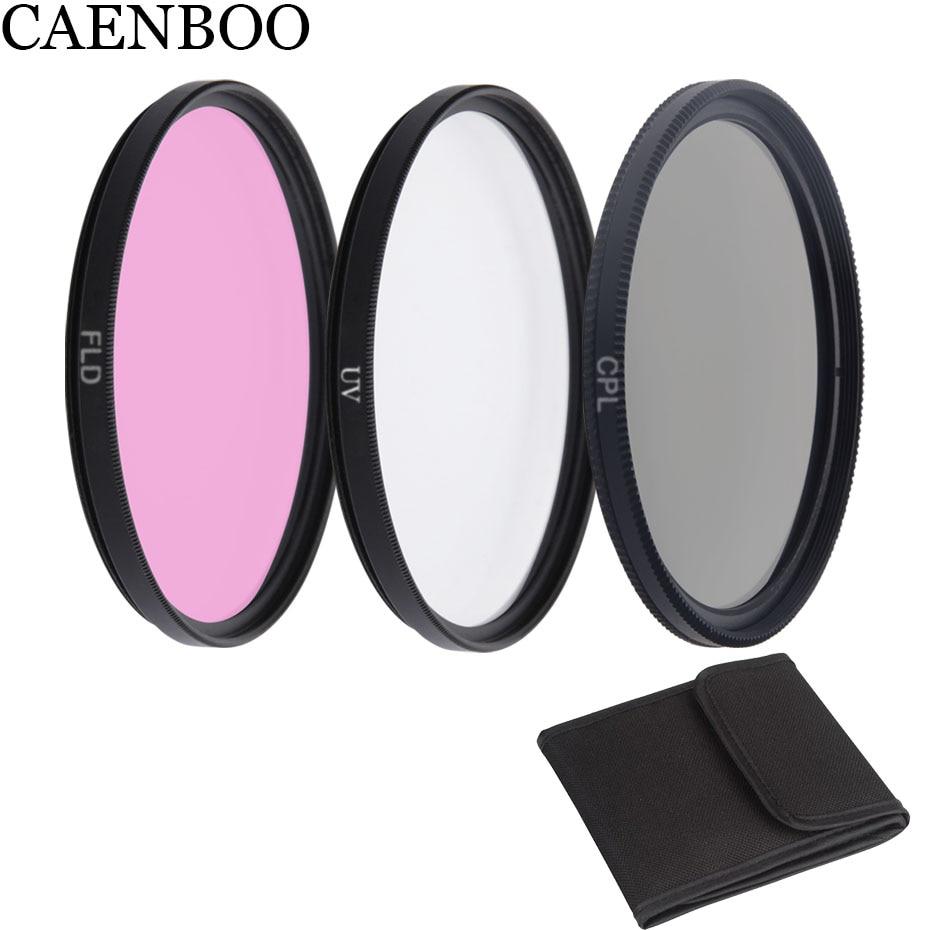 CAENBOO Camera Filter CPL Polar+UV+Purple+Bag 37 40.5 43 46 49 52 55 58 62 67 72 77 82mm For Canon EOS Nikon Sony Universal DSRL
