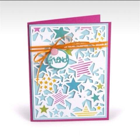 The background of the pentagram Metal Cutting Dies Stencils for DIY Scrapbooking/photo album Decorative Embossing DIY Paper Card