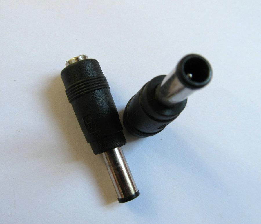 2 piezas de enchufe adaptador de corriente continua 5,5x2,1mm hembra a 6,0x4,4mm + pin macho para Sony interfaz cargador conector para portátil socket