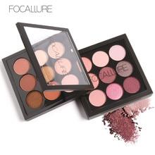 FOCALLURE 9 Colors Earth Tone Shimmer Matte Pigment Glitter Eyeshadow Palette Artist Shadow Palette Makeup Metallic Eye Shadow