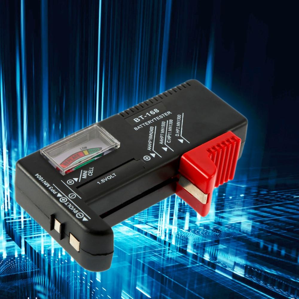 Hot Suche BT-168 Universal Batterie Tester Für 9V 1,5 V Und Knopf Zelle AAA AA C D Großhandel
