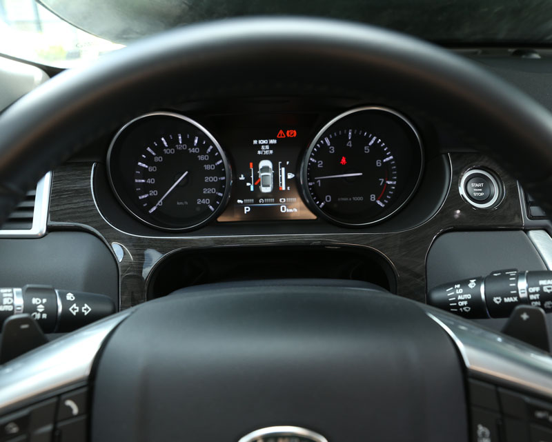 Land Rover Discovery Sport voiture   Housse de décoration pour tableau de bord, garniture ABS grain de bois foncé, accessoires pour LHD 2015 +
