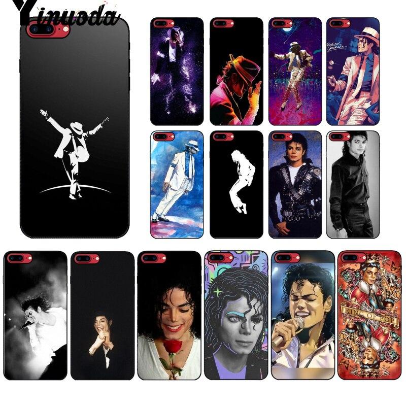 Yinuoda, Michael Jackson, accesorios coloridos para teléfono, funda para Apple iPhone 8 7 6 6S Plus X XS MAX 5 5S SE XR, fundas para móviles