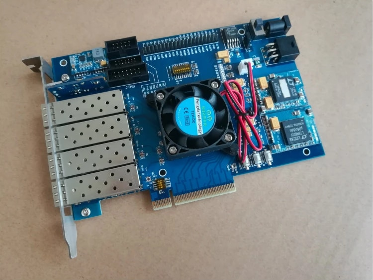 For Xilinx Fpga Development Board Xilinx Pcie Development Board Kintex 7 Xc K420t Sfp 10g Demo Board Accessories Aliexpress