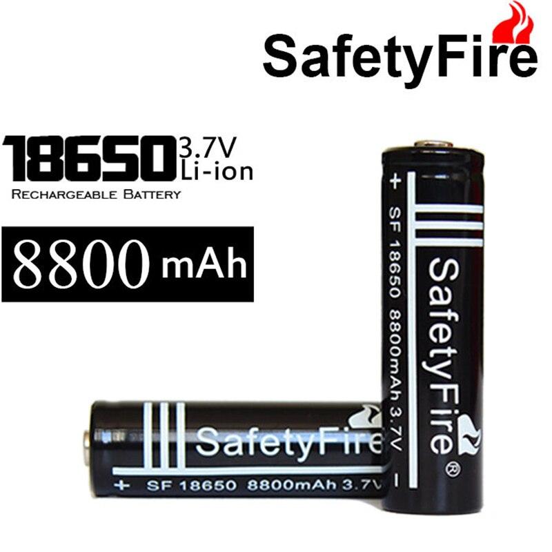 100 Uds KingWei alta capacidad 8800MAH 18650 batería 3,7 v Li-Ion batería de litio recargable 18650 para linterna LED