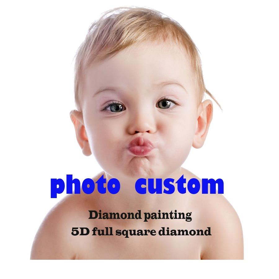 Photo Custom!5D DIY Diamond Painting! Make Your Own Diamond Painting Full Square Rhinestone Diamond Embroidery Private custom!