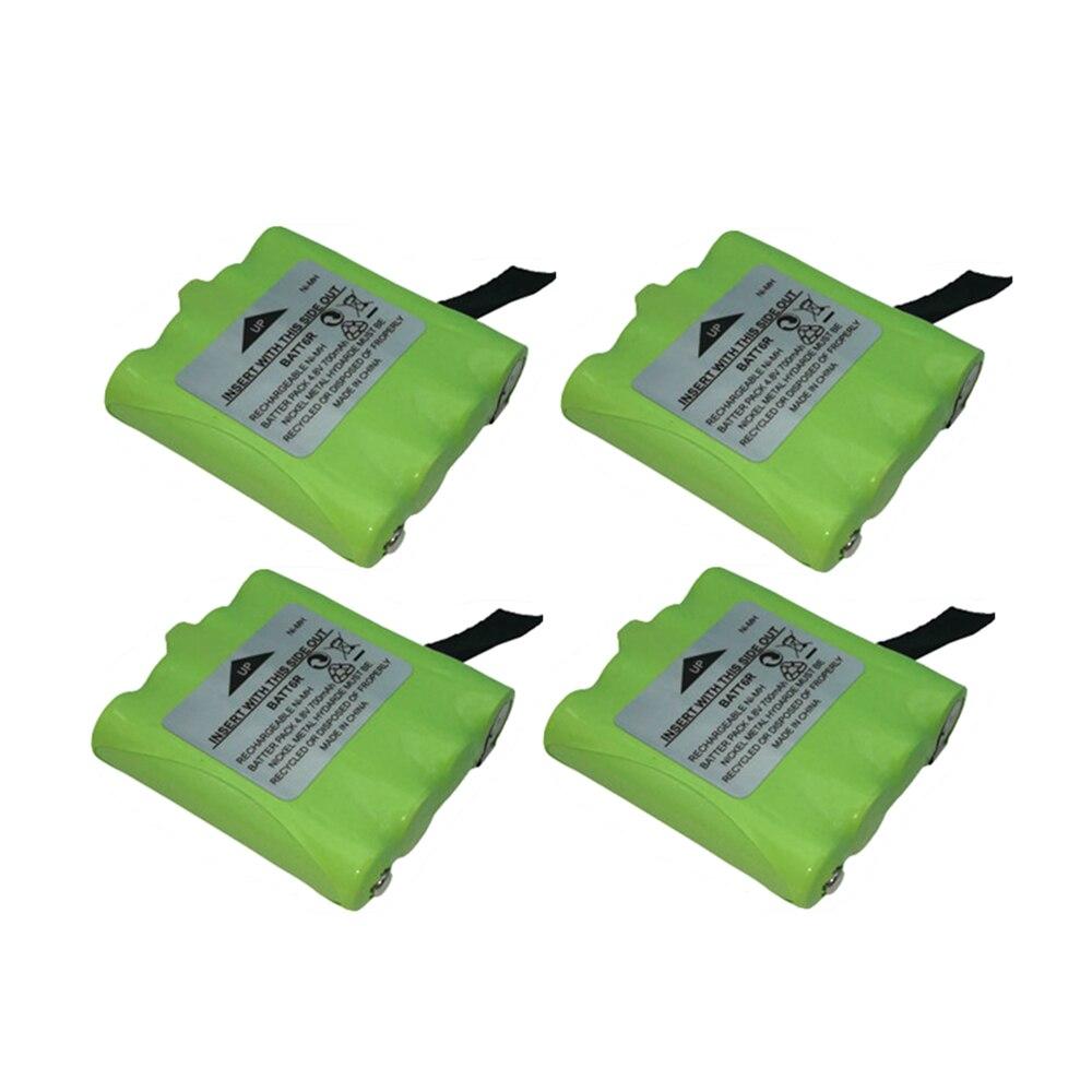 4pc 4.8 v 700 mah ni-mh recarregável 2 maneira bateria de rádio para midland batt6r BATT-6R