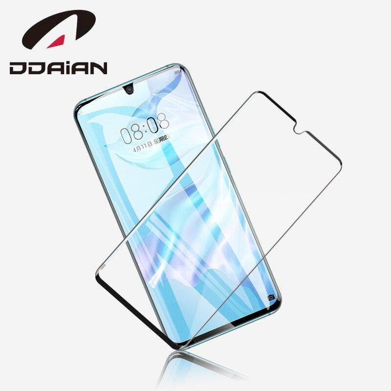Ddaian para Huawei P30pro pantalla protectora de vidrio templado de alta definición Ultra-delgada pantalla completa de vidrio protector