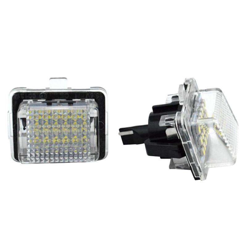Um par de faróis do carro led luzes da placa de licença lâmpada de sinal para mercedes-benz classe c classe e classe s classe cl classe