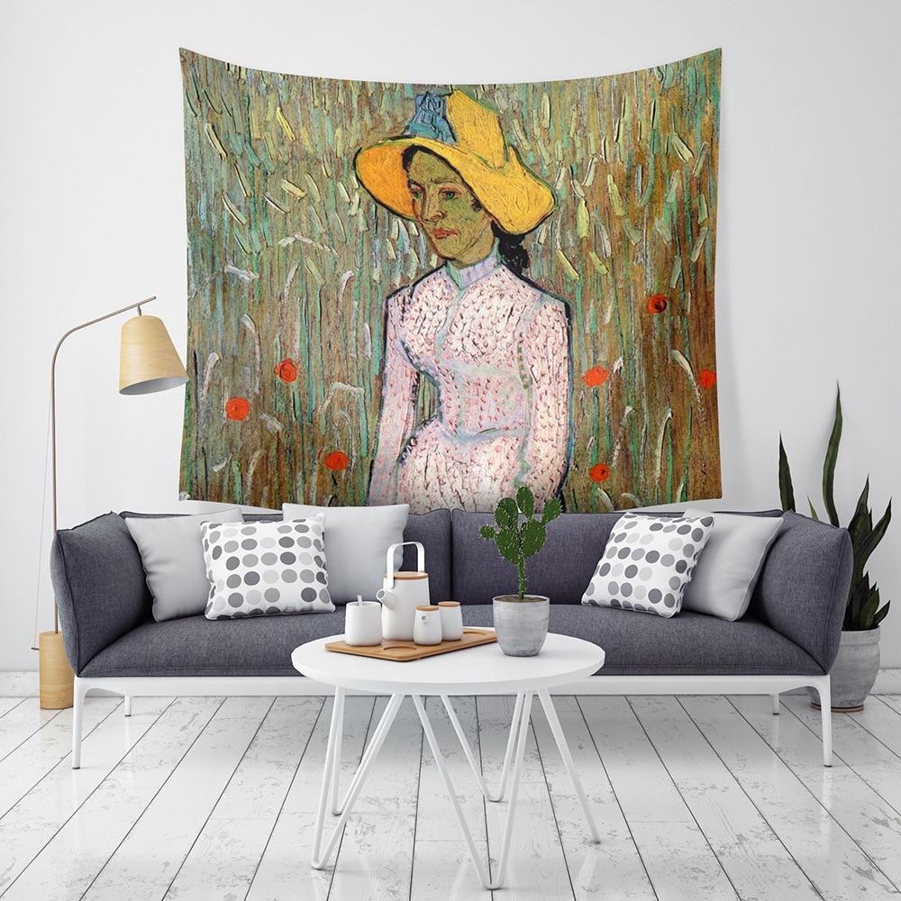 Tapiz artístico de pared decorativo con estampado de artistas famosos, decoración para colgar en la pared, tapices, toalla de playa, mantel