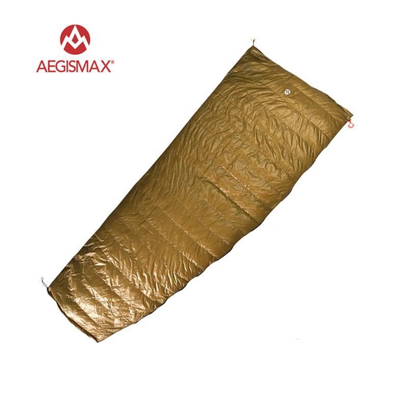 AEGISMAX Outdoor Envelope 95% White Goose Down Sleeping Bag Camping Hiking Equipment FP800 M L