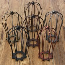 Industriële Vintage Antieke Lamp Covers Metalen Draad Hanger Lamp Kroonluchter Kooi Plafond Opknoping Guard Cafe Bars Lamp Shades