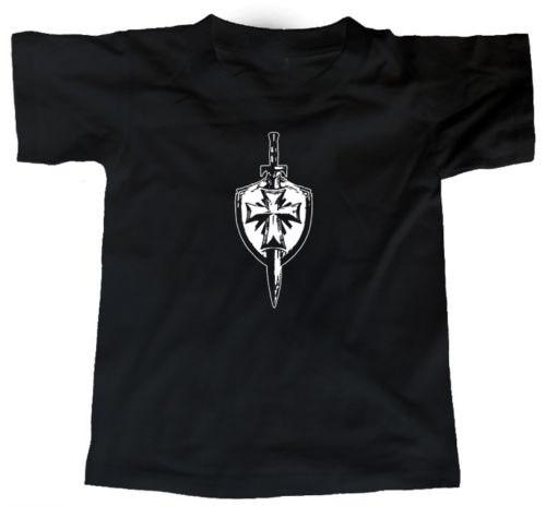 Hombres 2019 Tees imprimir Camiseta de manga corta hombres Top caballeros Templar diseño Camisa de algodón sudadera