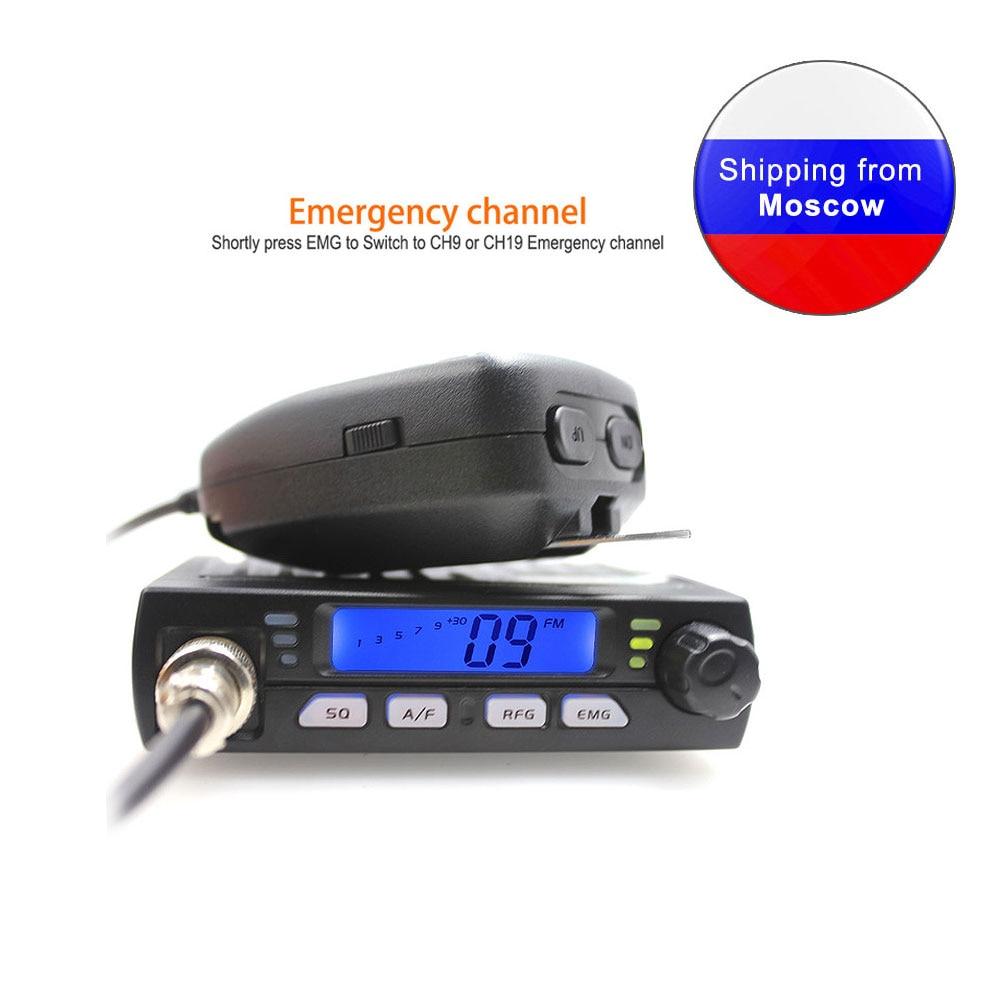 Nuevo ANYSECU Mini móvil Radio CB-40M 25.615-30.105MHz 10M Amateur 8W AM/FM ciudadano CB Radio de banda AR-925