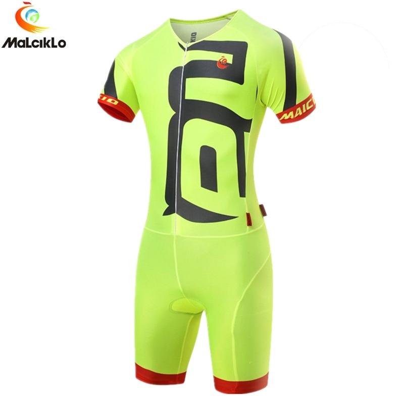 Malciklo Mono para triatlón Ropa para bicicleta de montaña Ropa Ciclismo Maillot Ciclismo Jersey Pro hombres deporte para correr traje de neopreno