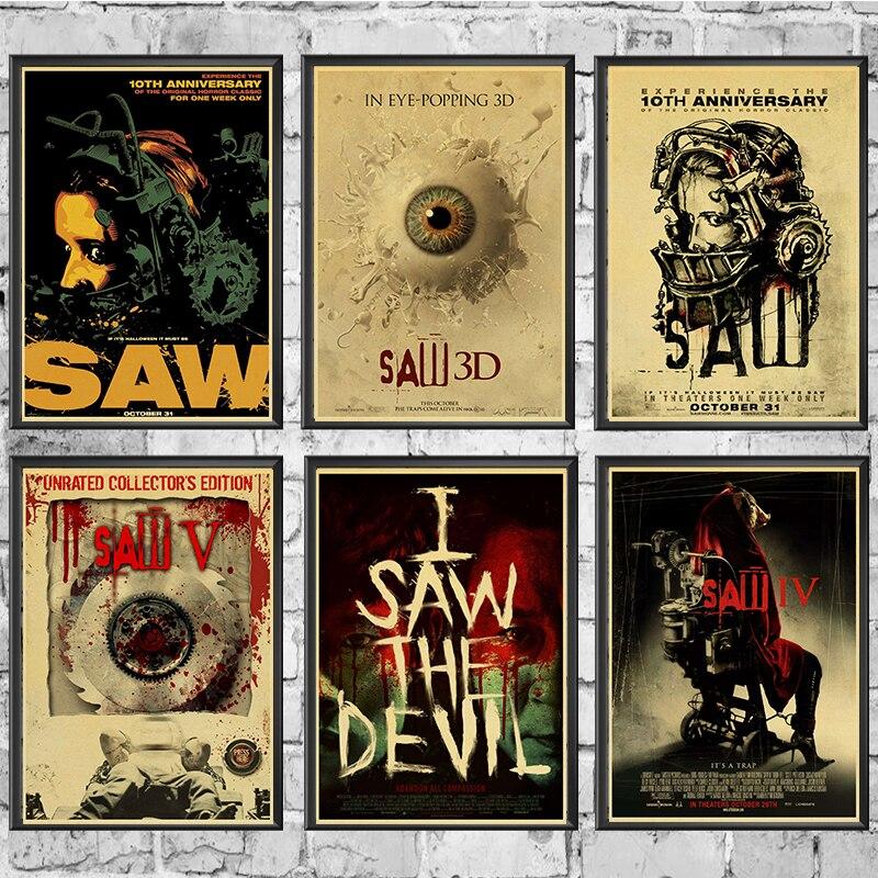 Sah Klassische Horror Film Poster Von Einrichtungs Dekoration Kraft Film Retro Poster Zeichnung core Wand Malerei