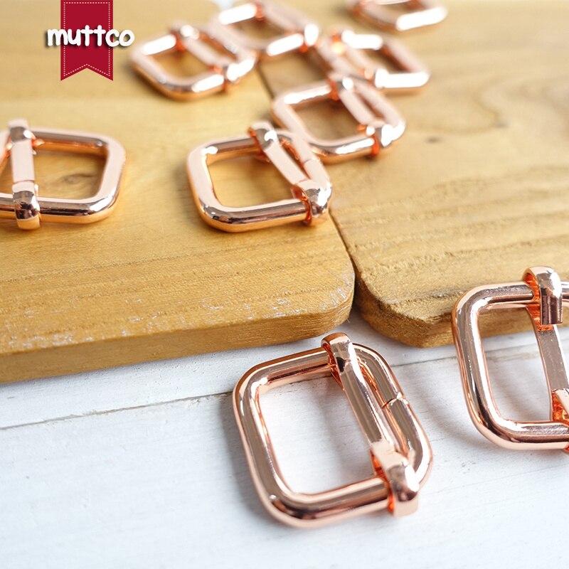 20 unids/lote de accesorios para collar de perro con hebilla ajustable de 15mm correas para correas de mochila Artesanía de metal LXK-015R de hardware duradero