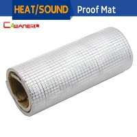 Cawanerl 50CM X 100CM Car Body Sound Shield Heat Insulation Deadener Deadening Material Pad Mat Aluminum Foil Self-Adhesive